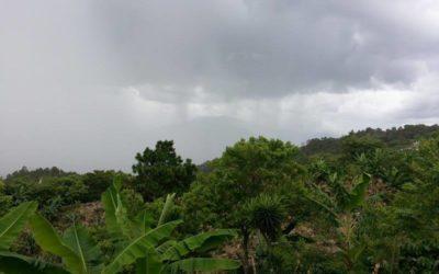 Rain on the mountain..