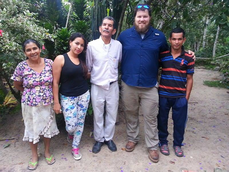 Pastor Eleuterio, his wife and 2 of his kids..