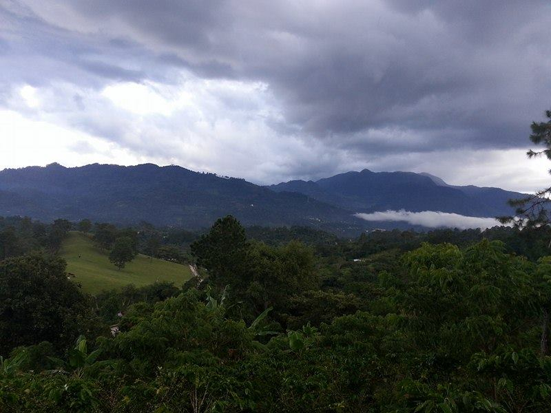 The view of Leapera from Pastor Eleuterio's farm..